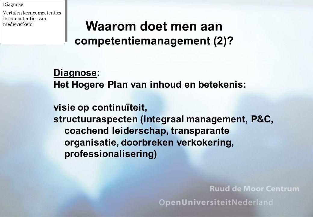 Waarom doet men aan competentiemanagement (2)