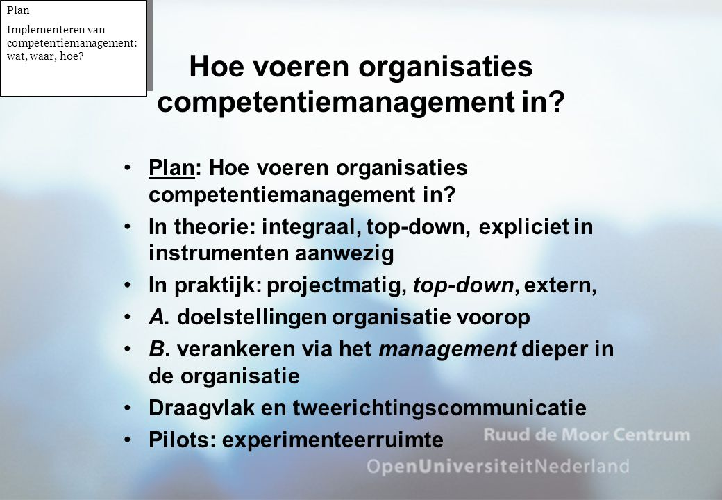 Hoe voeren organisaties competentiemanagement in