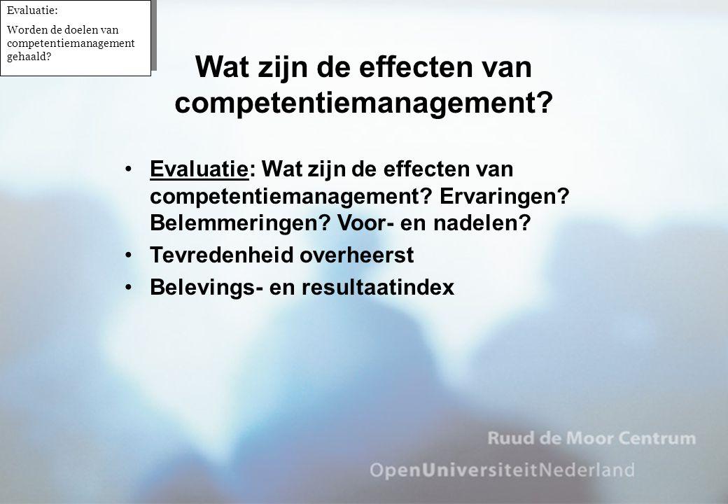 Wat zijn de effecten van competentiemanagement