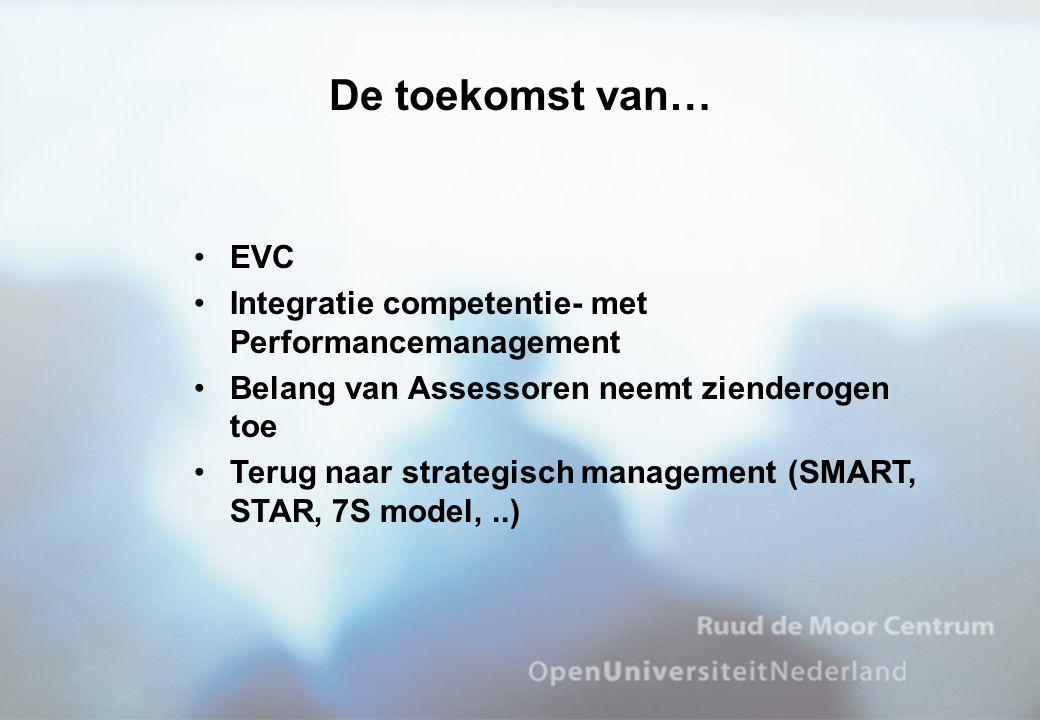 De toekomst van… EVC Integratie competentie- met Performancemanagement