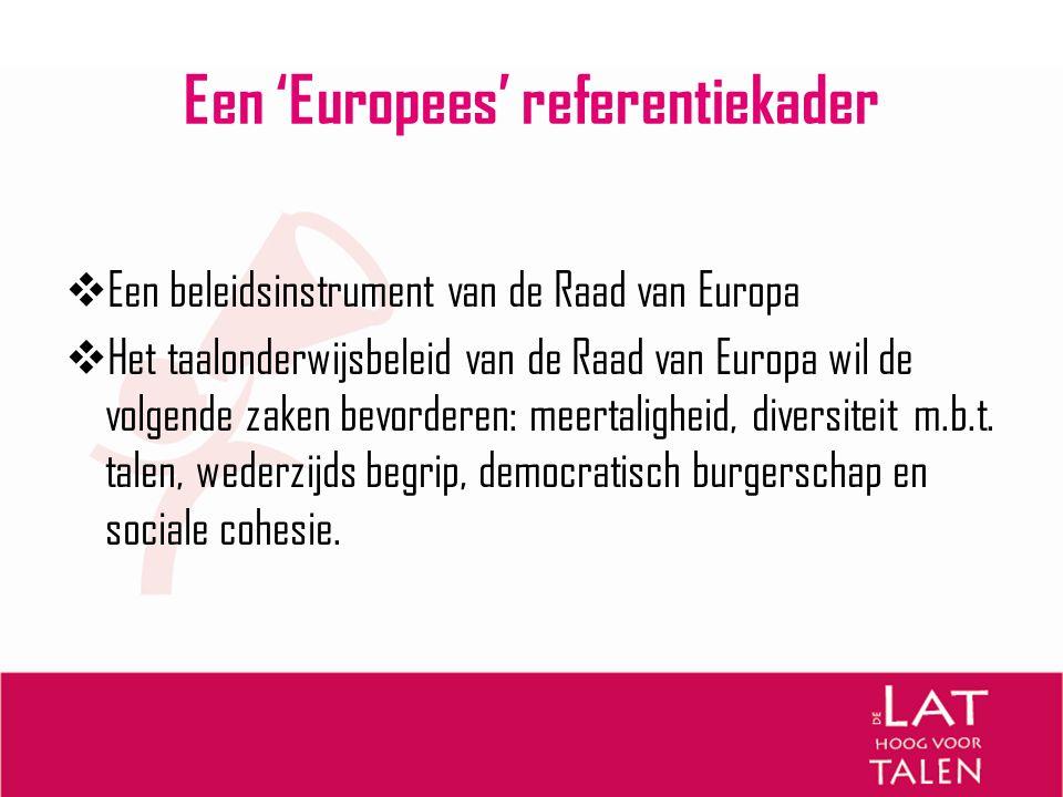 Een 'Europees' referentiekader