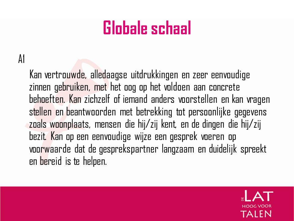 Globale schaal A1.