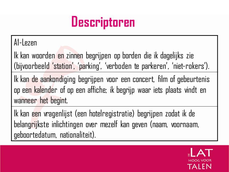 Descriptoren A1-Lezen.
