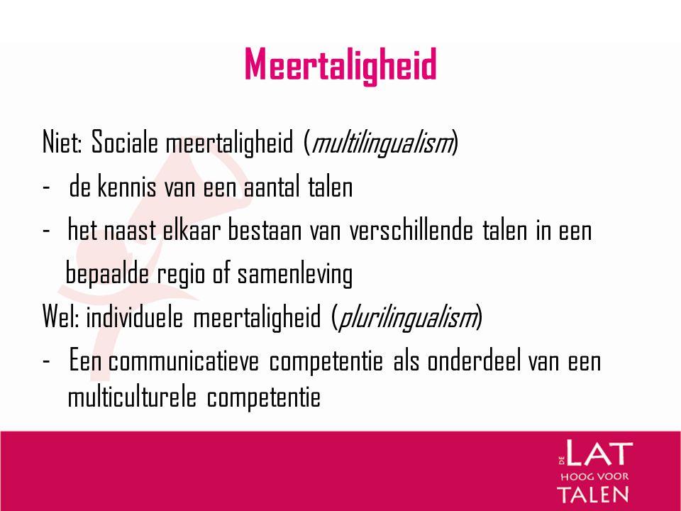 Meertaligheid Niet: Sociale meertaligheid (multilingualism)