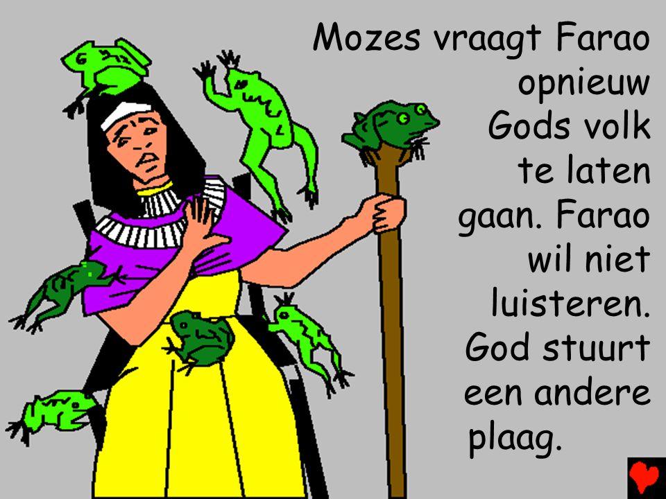 Mozes vraagt Farao opnieuw
