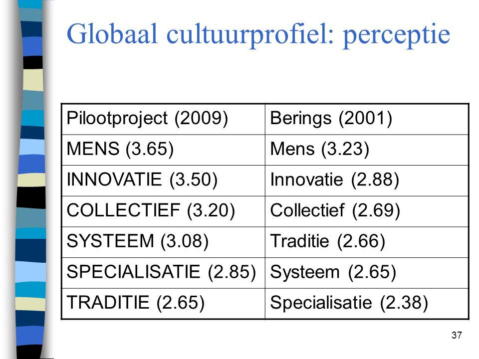 Globaal cultuurprofiel: perceptie