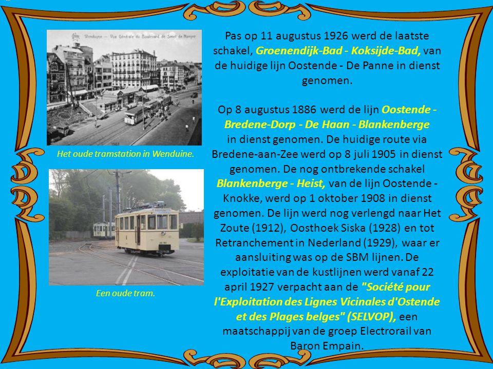 Het oude tramstation in Wenduine.