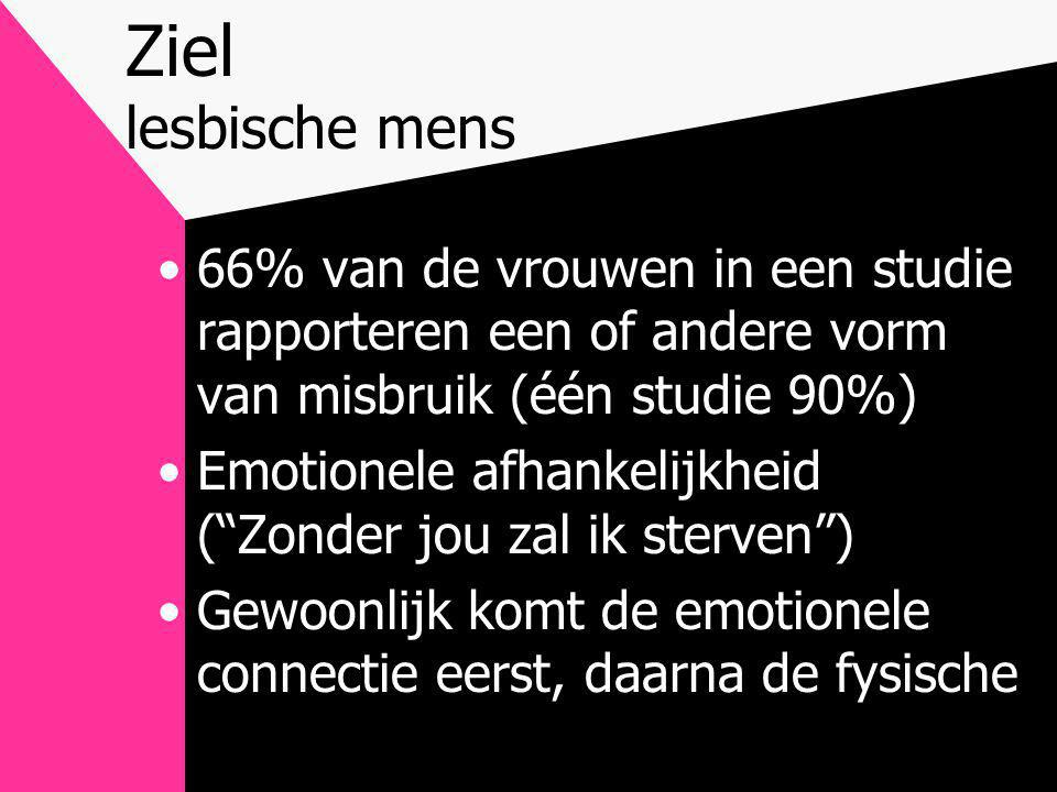 Ziel lesbische mens 66% van de vrouwen in een studie rapporteren een of andere vorm van misbruik (één studie 90%)