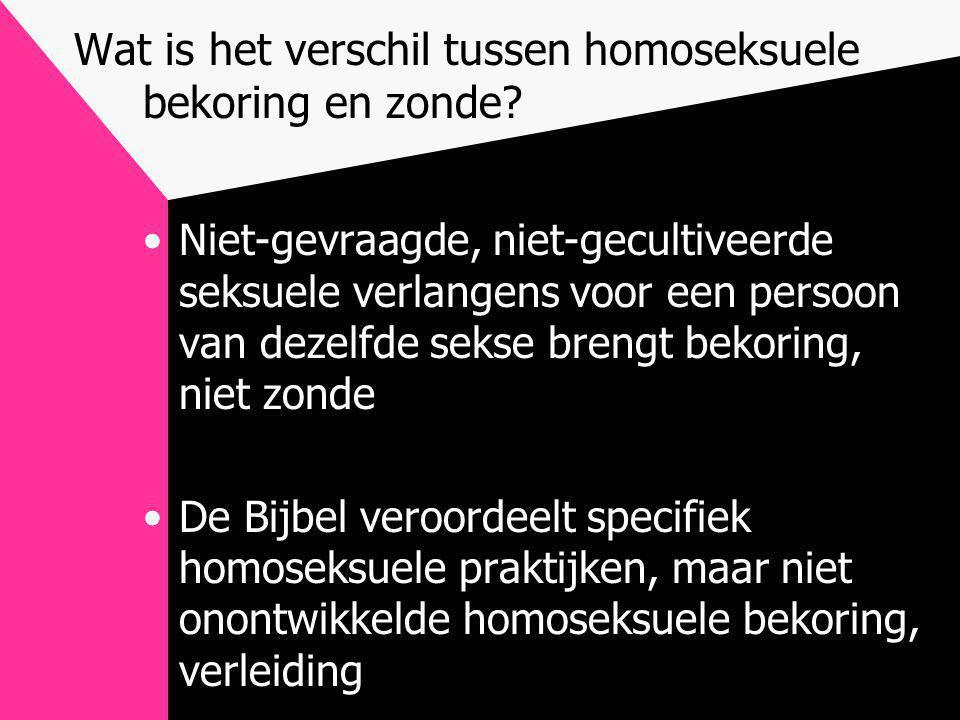 Wat is het verschil tussen homoseksuele bekoring en zonde