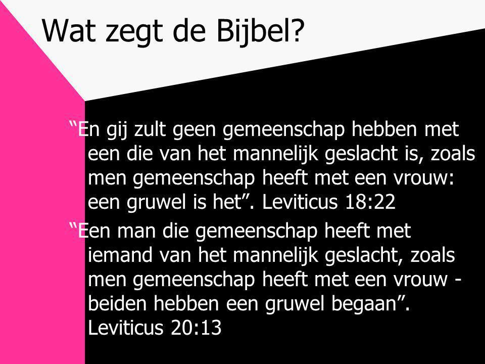Wat zegt de Bijbel