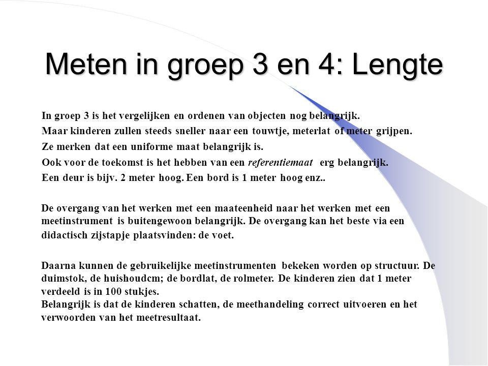 Meten in groep 3 en 4: Lengte