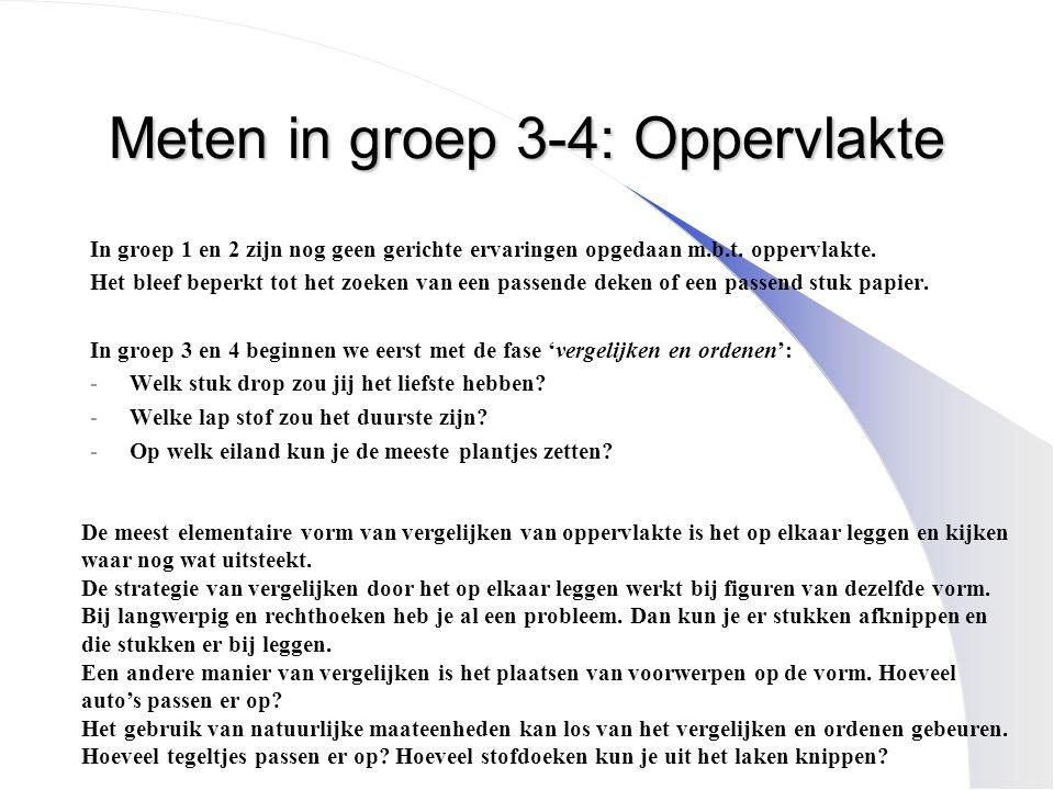 Meten in groep 3-4: Oppervlakte
