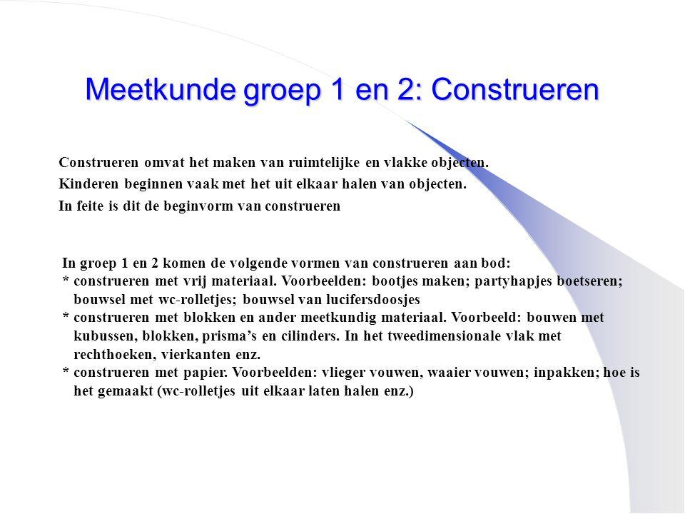 Meetkunde groep 1 en 2: Construeren