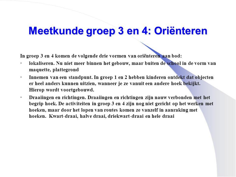 Meetkunde groep 3 en 4: Oriënteren
