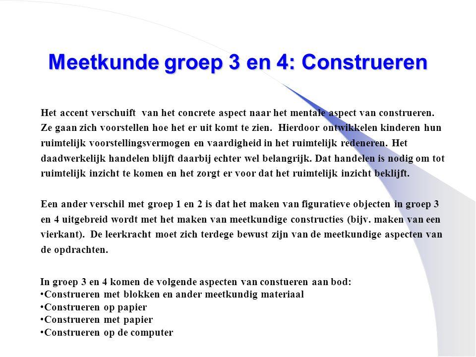 Meetkunde groep 3 en 4: Construeren