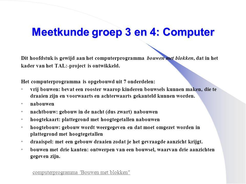Meetkunde groep 3 en 4: Computer