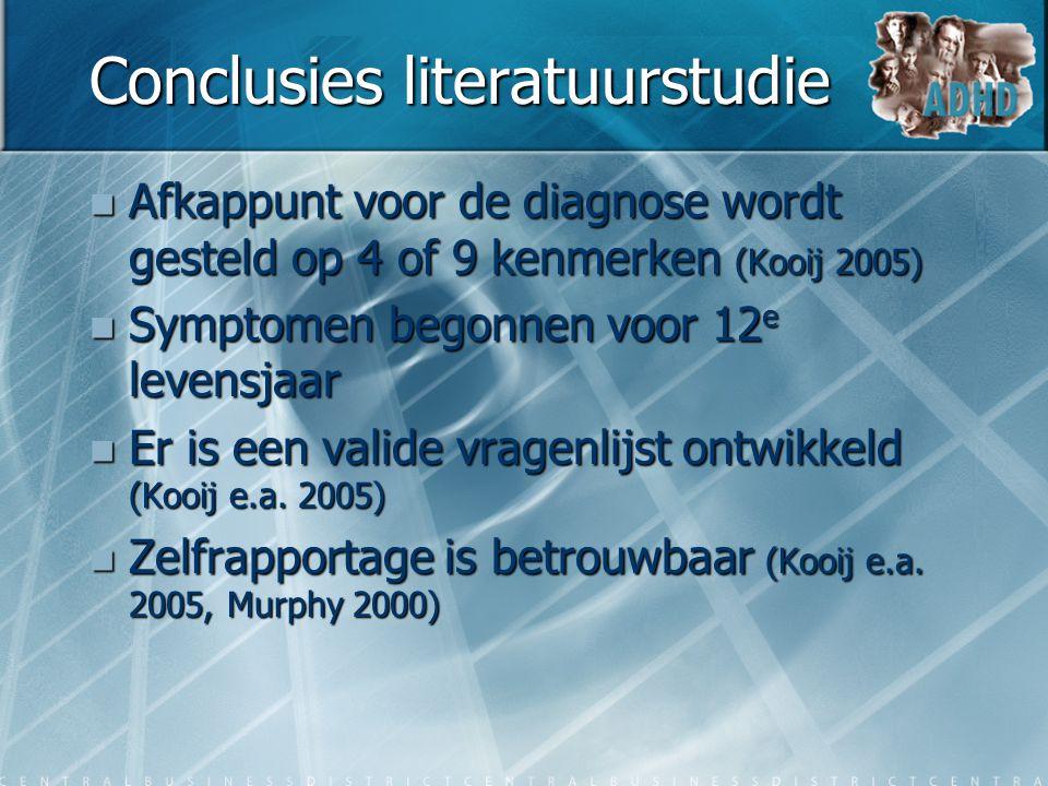 Conclusies literatuurstudie