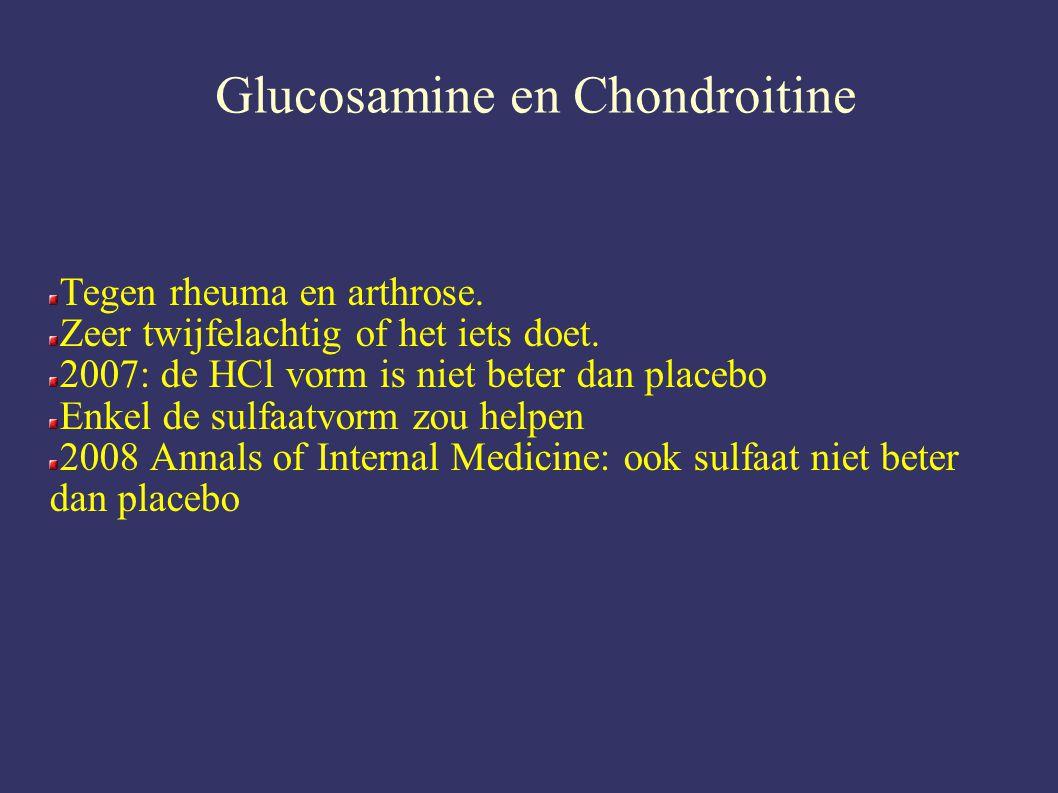 Glucosamine en Chondroitine