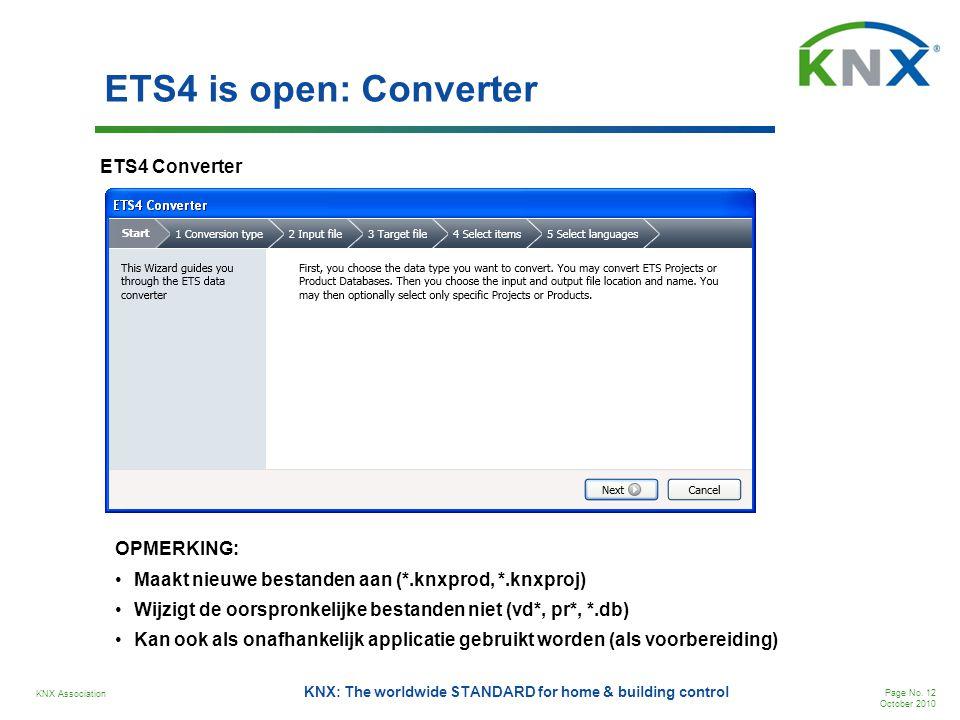 ETS4 is open: Converter ETS4 Converter OPMERKING: