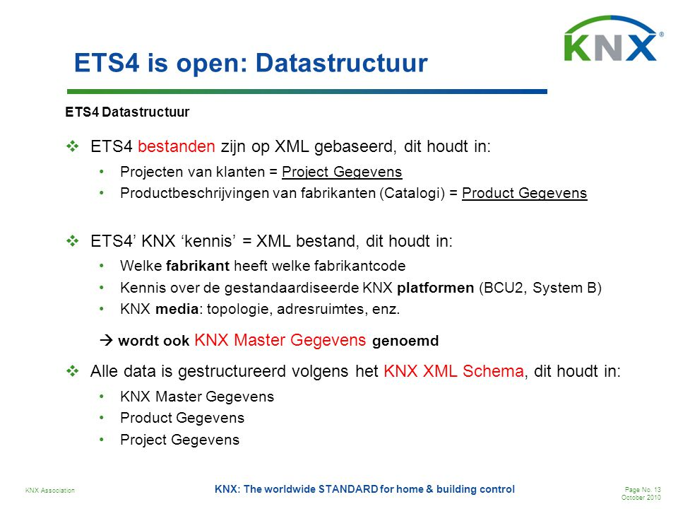 ETS4 is open: Datastructuur