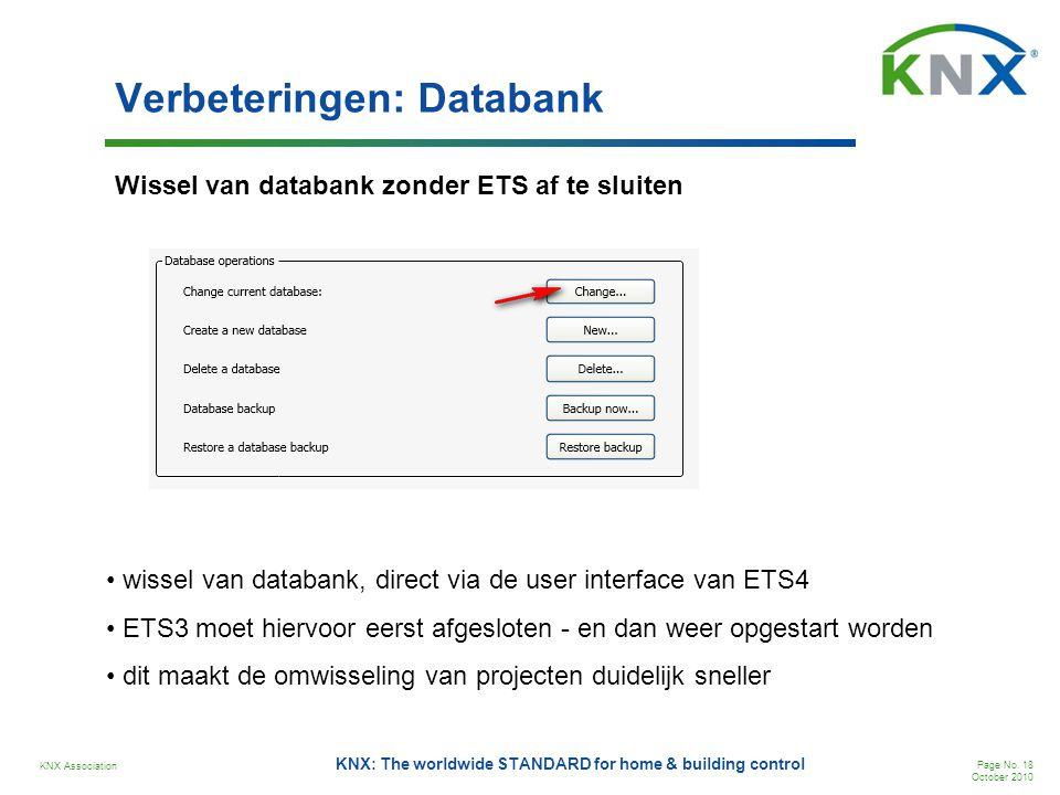 Verbeteringen: Databank