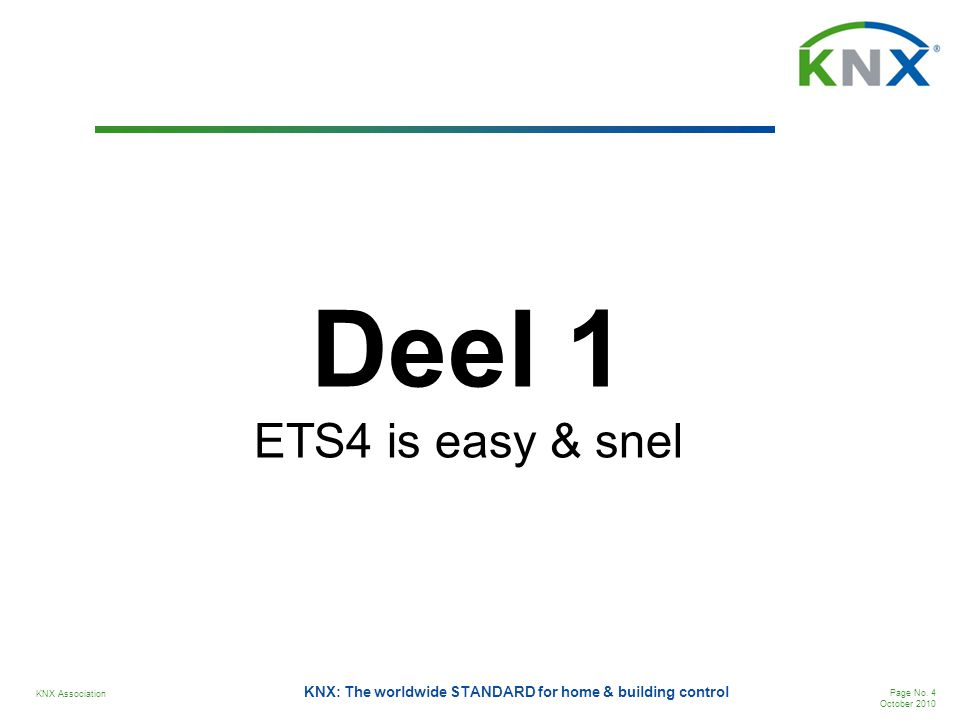 Deel 1 ETS4 is easy & snel