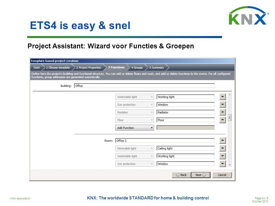 ETS4 is easy & snel Project Assistant: Wizard voor Functies & Groepen