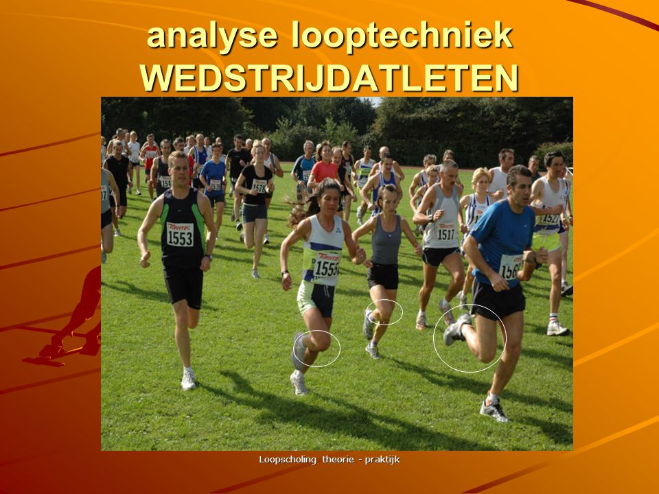 analyse looptechniek WEDSTRIJDATLETEN