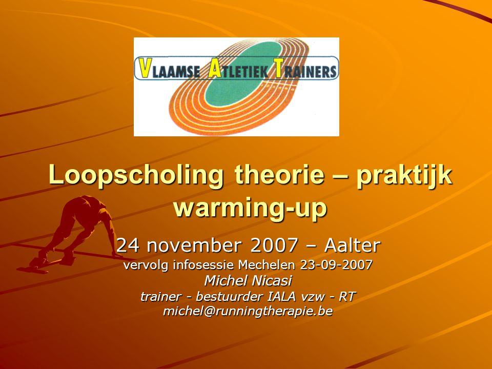 Loopscholing theorie – praktijk warming-up