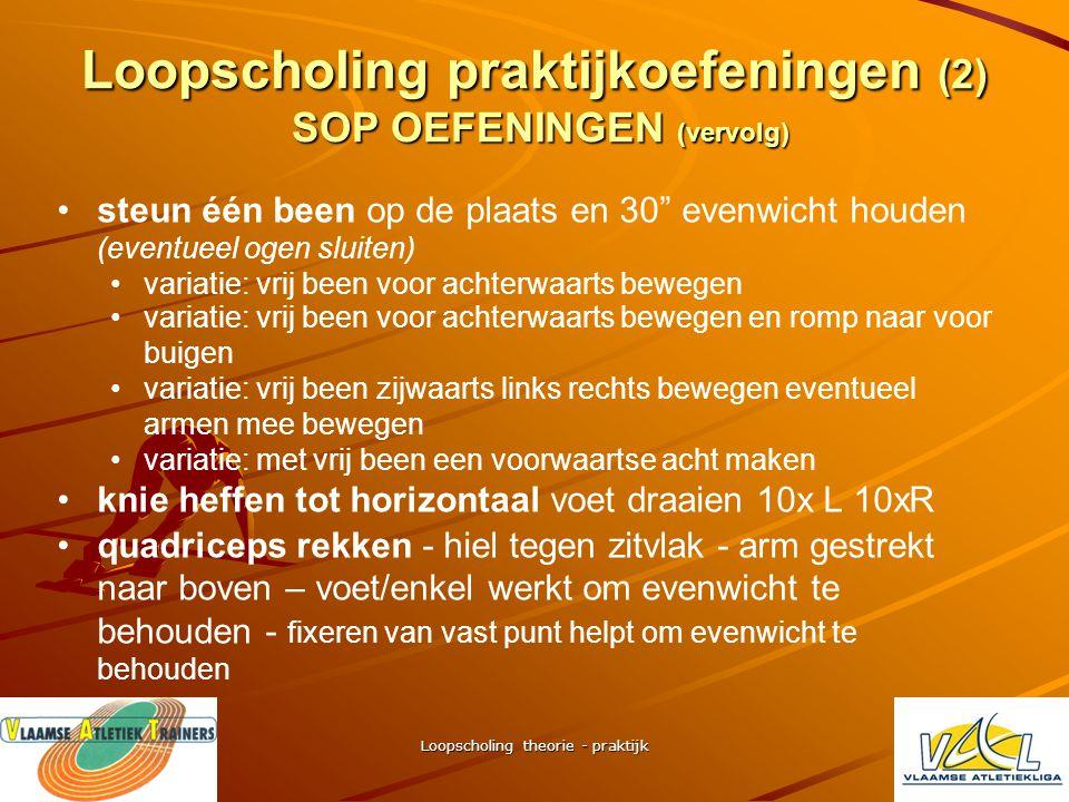 Loopscholing praktijkoefeningen (2) SOP OEFENINGEN (vervolg)