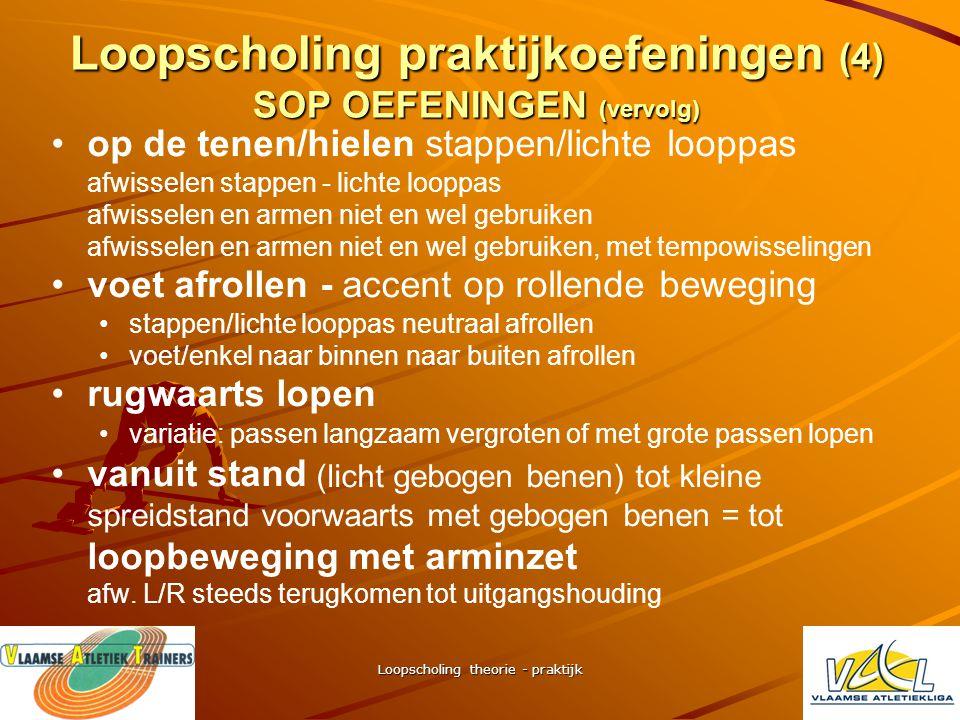 Loopscholing praktijkoefeningen (4) SOP OEFENINGEN (vervolg)