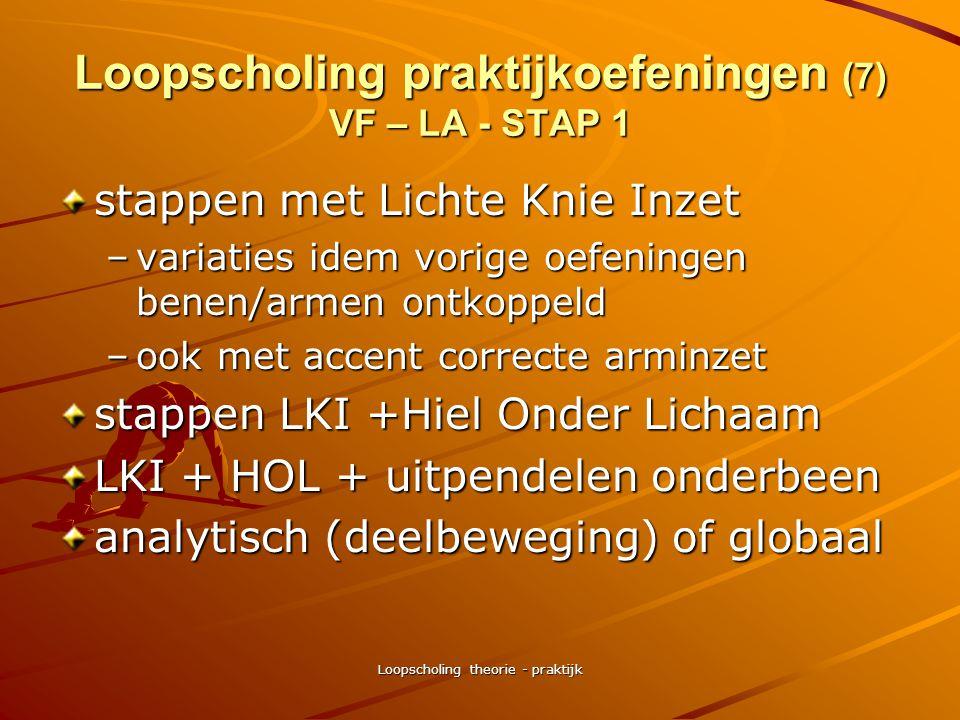 Loopscholing praktijkoefeningen (7) VF – LA - STAP 1