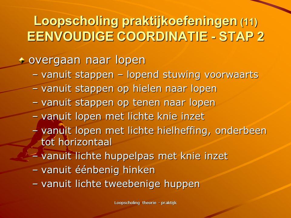 Loopscholing praktijkoefeningen (11) EENVOUDIGE COORDINATIE - STAP 2