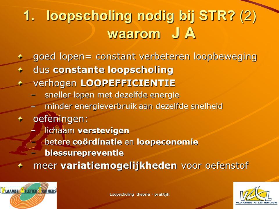 loopscholing nodig bij STR (2) waarom J A