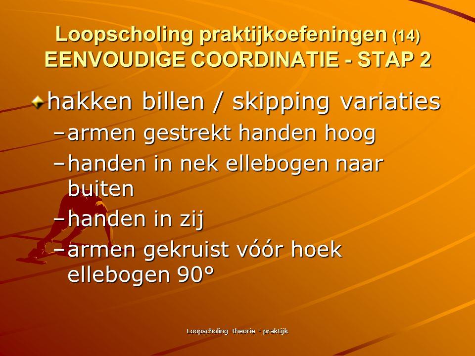 Loopscholing praktijkoefeningen (14) EENVOUDIGE COORDINATIE - STAP 2