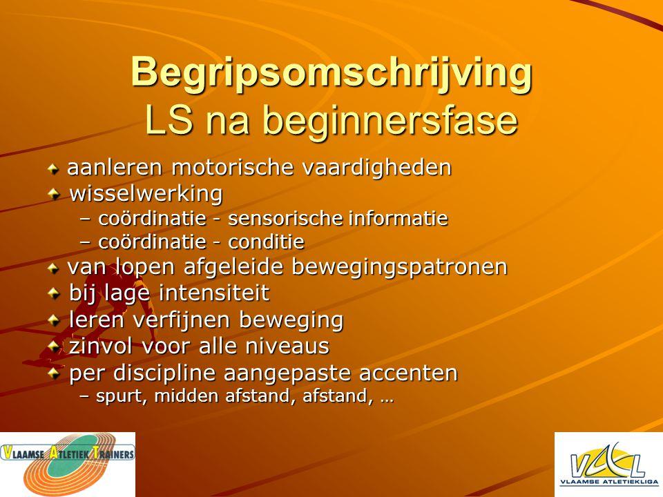 Begripsomschrijving LS na beginnersfase