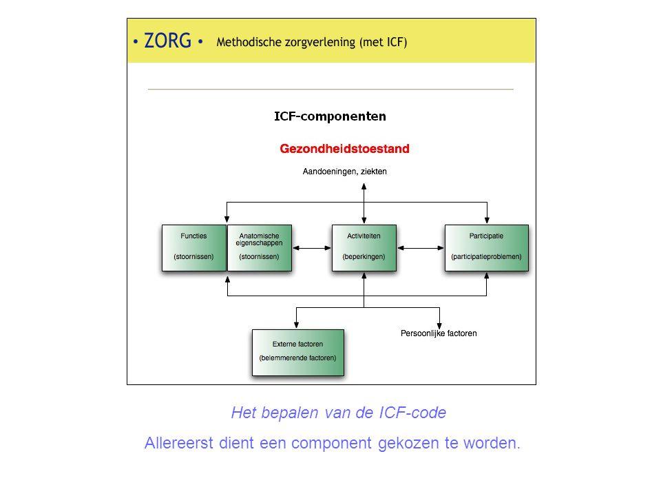 Het bepalen van de ICF-code