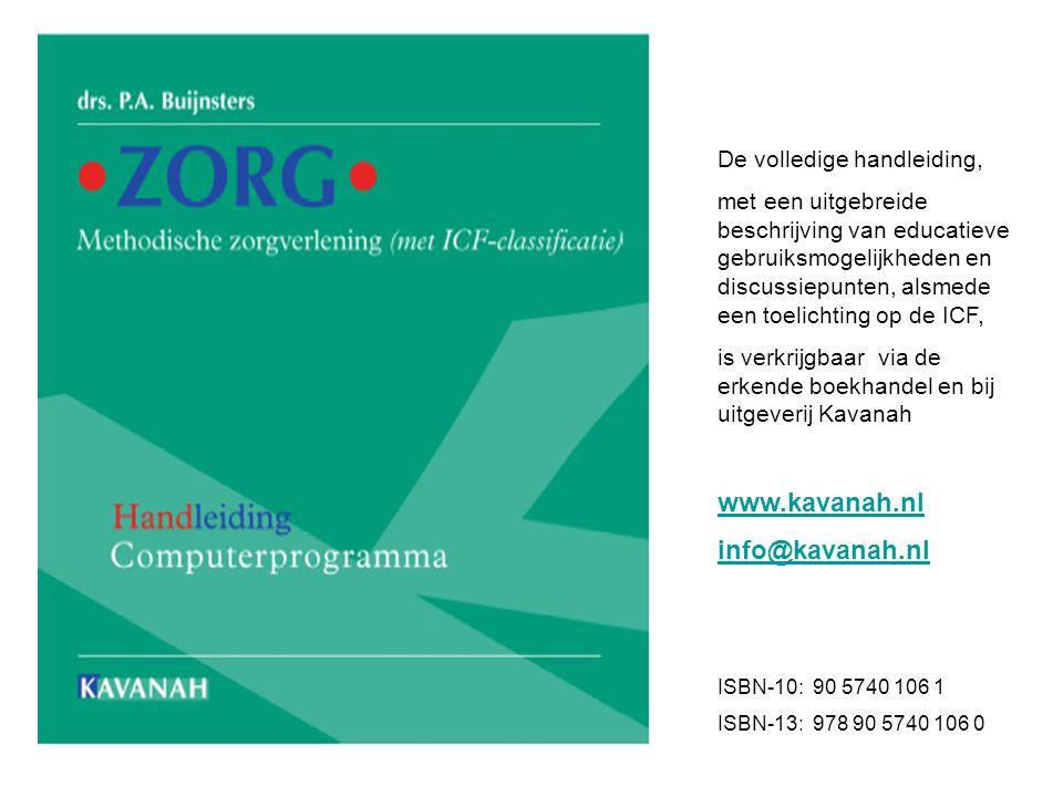www.kavanah.nl info@kavanah.nl De volledige handleiding,