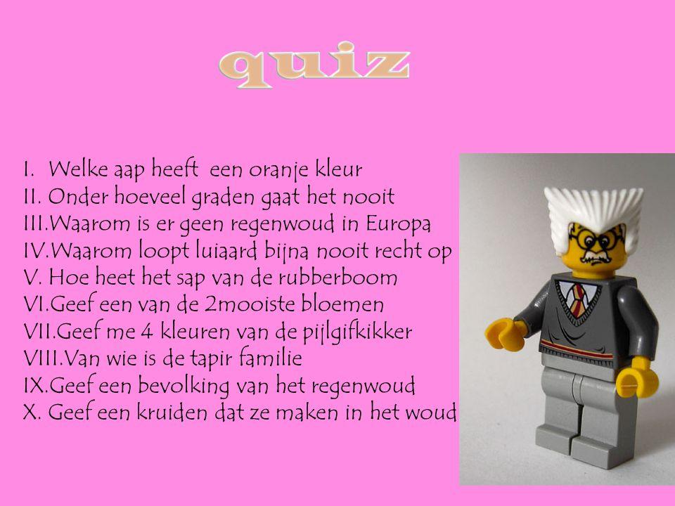 quiz Welke aap heeft een oranje kleur