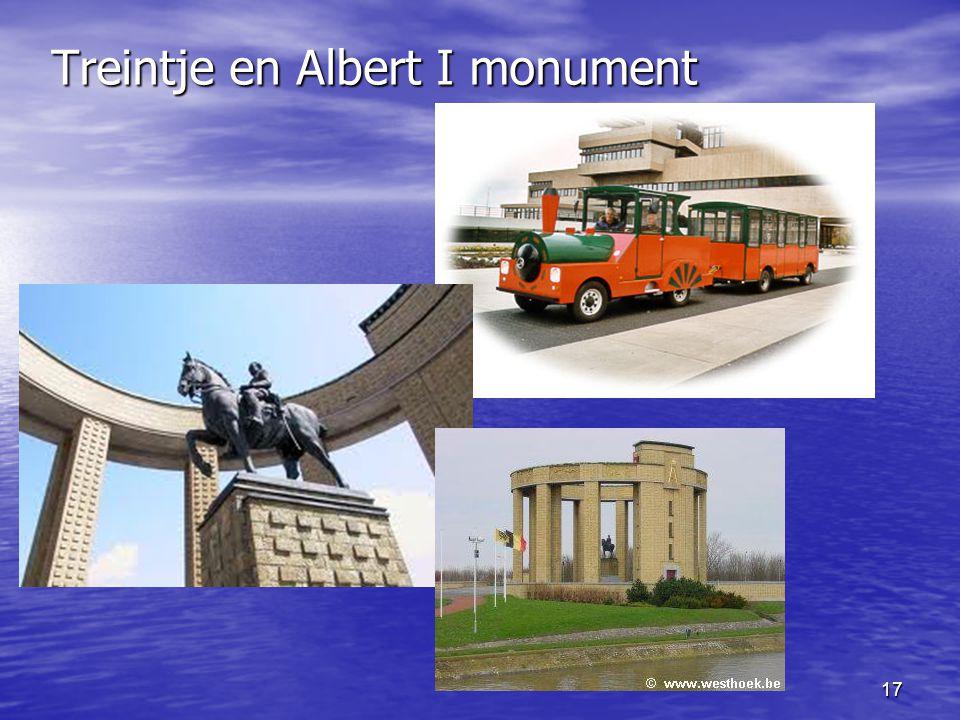 Treintje en Albert I monument