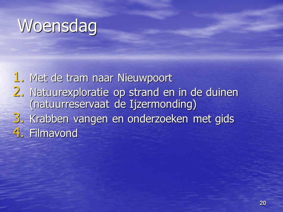 Woensdag Met de tram naar Nieuwpoort