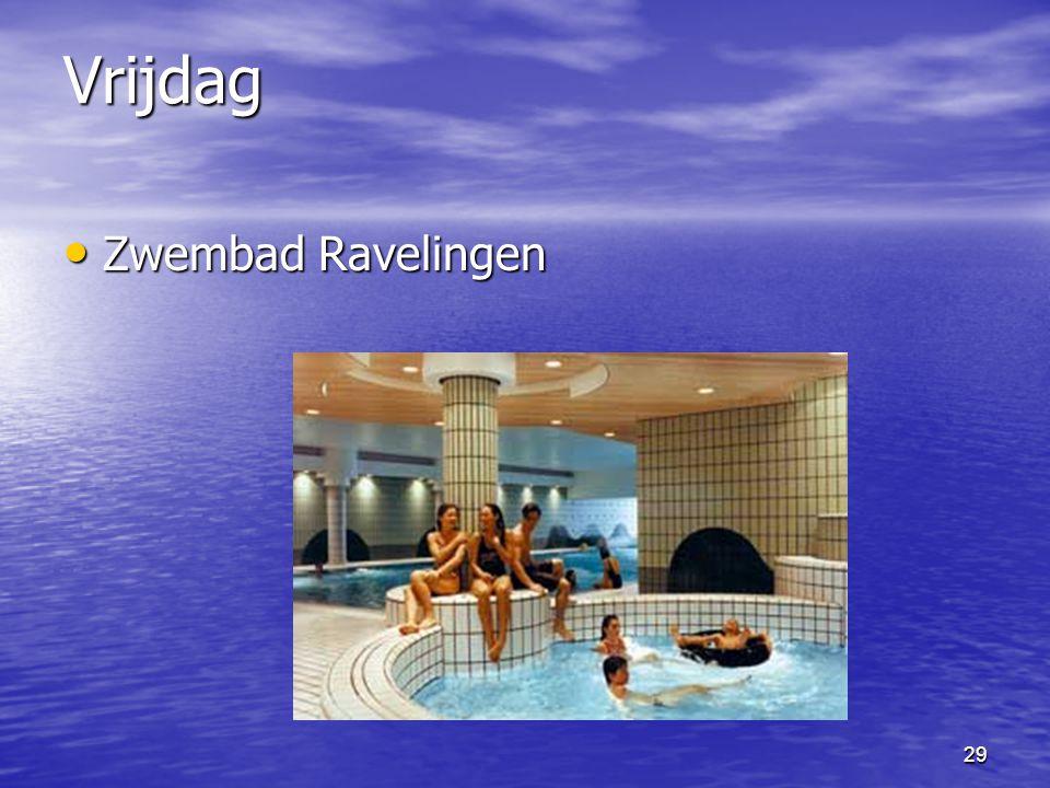 Vrijdag Zwembad Ravelingen