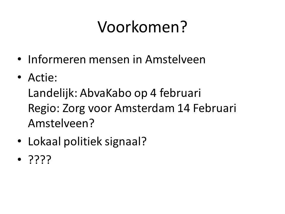 Voorkomen Informeren mensen in Amstelveen