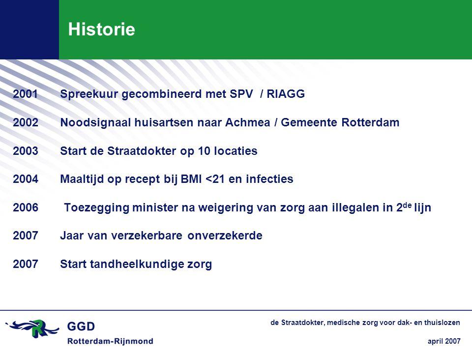 Historie 2001 Spreekuur gecombineerd met SPV / RIAGG