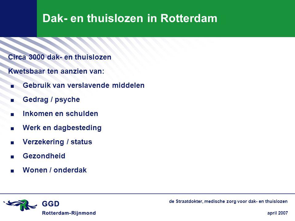 Dak- en thuislozen in Rotterdam