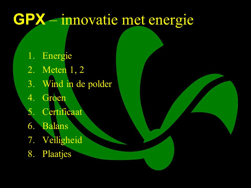 GPX – innovatie met energie