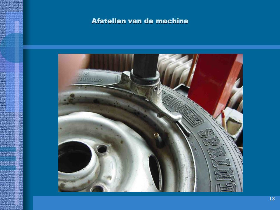 Afstellen van de machine