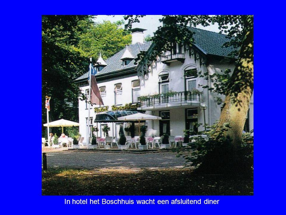 In hotel het Boschhuis wacht een afsluitend diner
