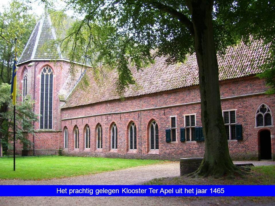 Het prachtig gelegen Klooster Ter Apel uit het jaar 1465