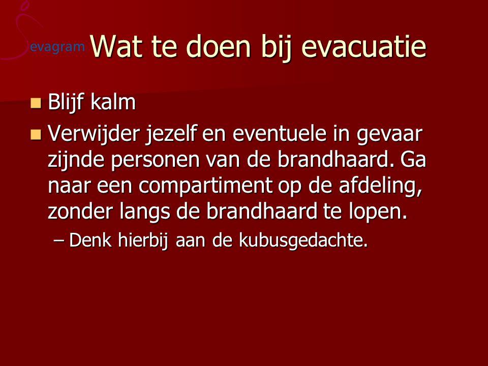 Wat te doen bij evacuatie